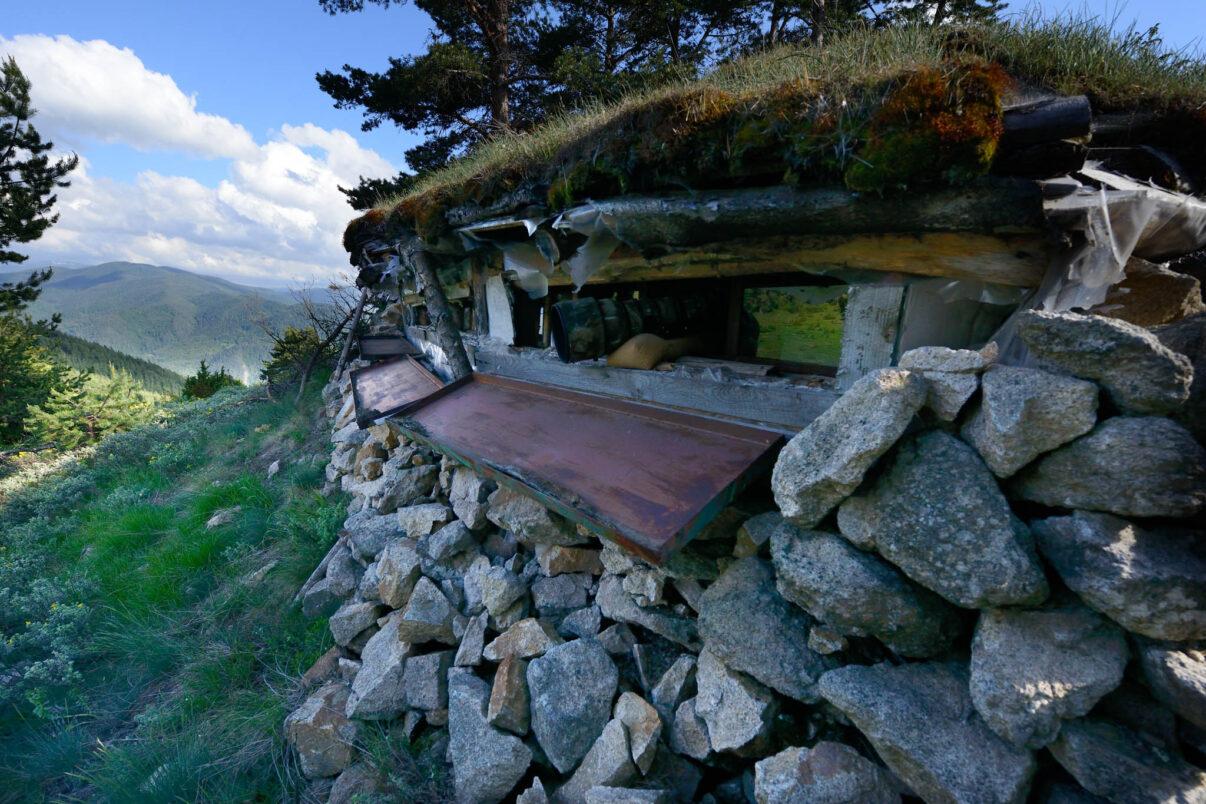 Wildlife watching hide near Deven, Western Rhodope mountains, Bulgaria