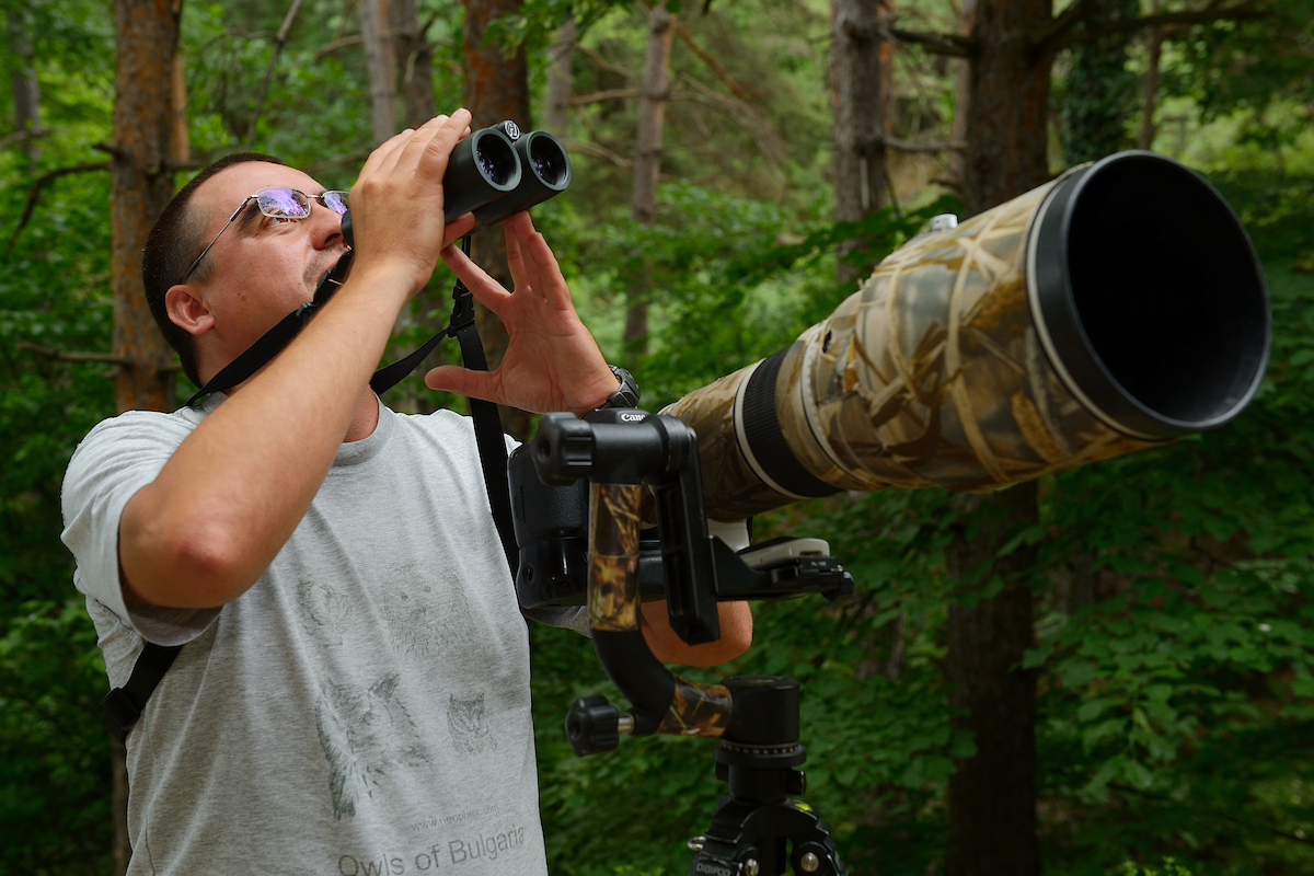 Birdwatching guide and nature photographer Mladen Vasilev, Eastern Rhodope mountains, Bulgaria