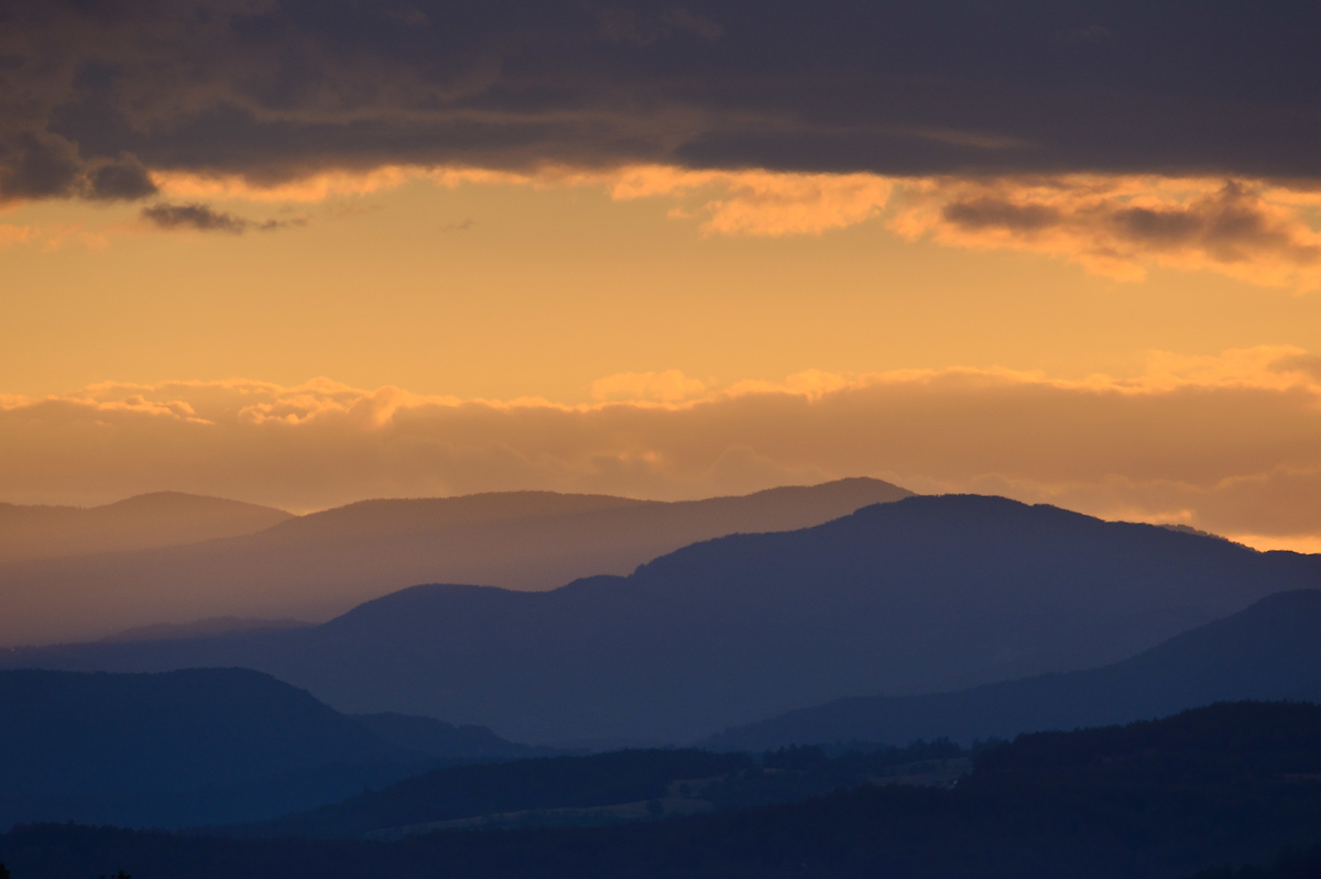 View from the Studen Kladenets hunting reserve, Eastern Rhodope mountains, Bulgaria